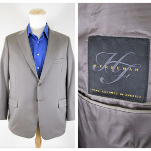 Hickey Freeman Khakis Beige Sport Coat Suit Jacket